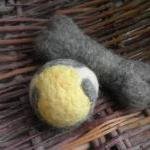 Wool Dog Toys, set of 2 dog..