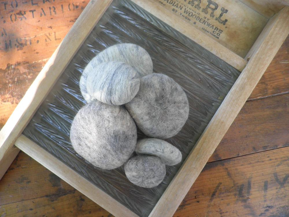 Felted wool rocks wool river rocks unique home decor for Felted wool boulders